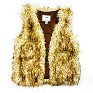 Old Navy Faux Fur Vest Size 10/12
